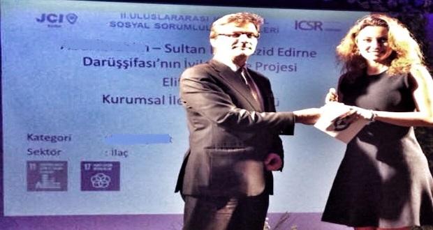 Abdi İbrahim'in Edirne Darüşşifası'nı İyileştirme Projesi'ne Uluslararası Ödül