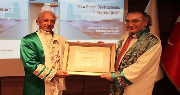 Ünlü Beyin Cerrahı Prof. Dr. Madjid Samii'ye Üsküdar Üniversitesi'nden Fahri Doktora