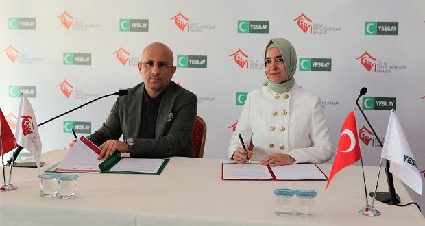 Aile ve Sosyal Politikalar Bakanlığı ile Yeşilay'dan Ortak Mücadele