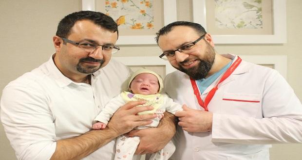 İki Günlük Bebek Ameliyatla Sağlığına Kavuştu