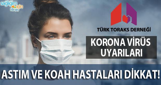Astım ve KOAH Hastaları İçin Korona Virüs Uyarıları